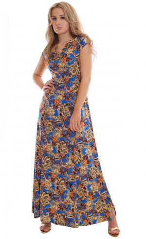 MontyQ Fashion - Image for Long Summer Maxi Dress Royal Blue