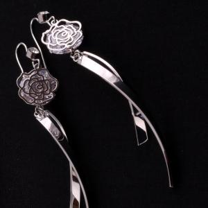 MontyQ Fashion - Image for Lotus Flower Costume Jewellery Earrings