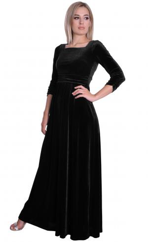 MontyQ Fashion - Image for Black Velvet Dress Square Neckline