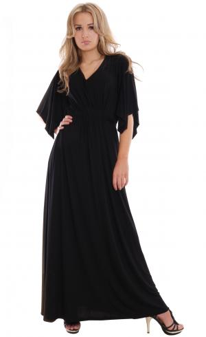MontyQ Fashion - Image for Maxi Dress Kaftan Style Black