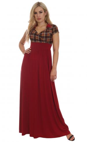 MontyQ Fashion - Image for Casual Empire Style Day Dress Tartan