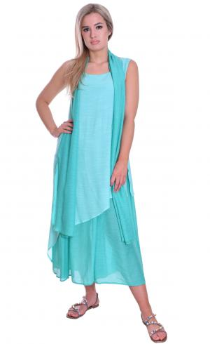 MontyQ Fashion - Image for Light Summer Maxi Dress Without Scarf