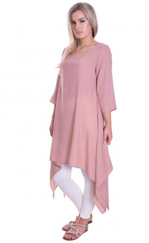 MontyQ Fashion - Image for NEW! Handkerchief Long Top Blush Pink