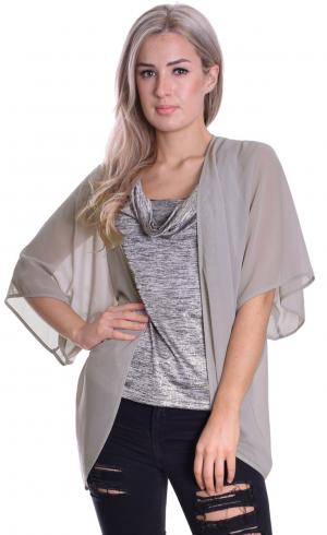 MontyQ Fashion - Image for Cape Cardigan Grey