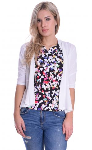 MontyQ Fashion - Image for Peplum Cardigan White