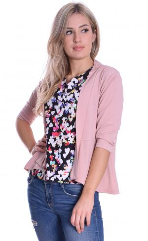 MontyQ Fashion - Image for Peplum Cardigan Pink
