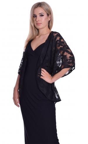 MontyQ Fashion - Image for Lace Cape Cardigan Black