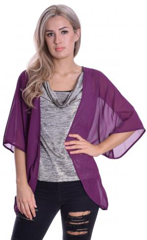 MontyQ Fashion - Image for Cape Cardigan Grape