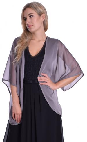 MontyQ Fashion - Image for Cardigan Blouse Silver Grey