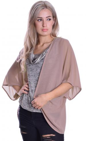 MontyQ Fashion - Image for Cape Cardigan Nude