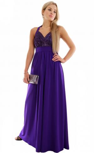 MontyQ Fashion - Image for Formal Evening Dress Empire Style Purple