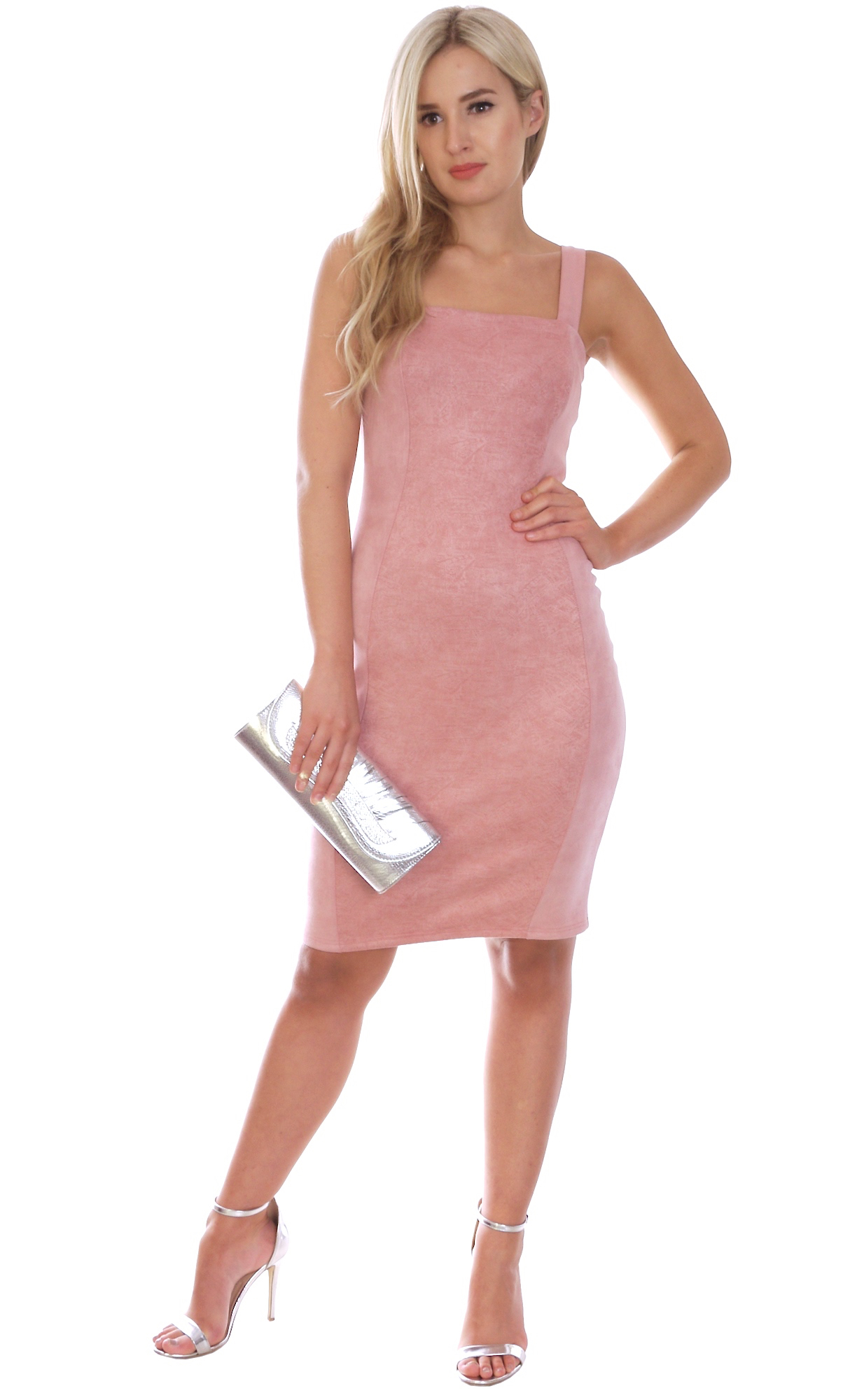 Image for Summer Mini Dress Nude Pink