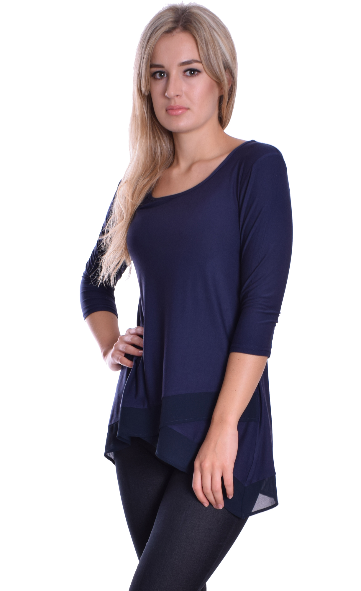 Image for Jersey Chiffon Top