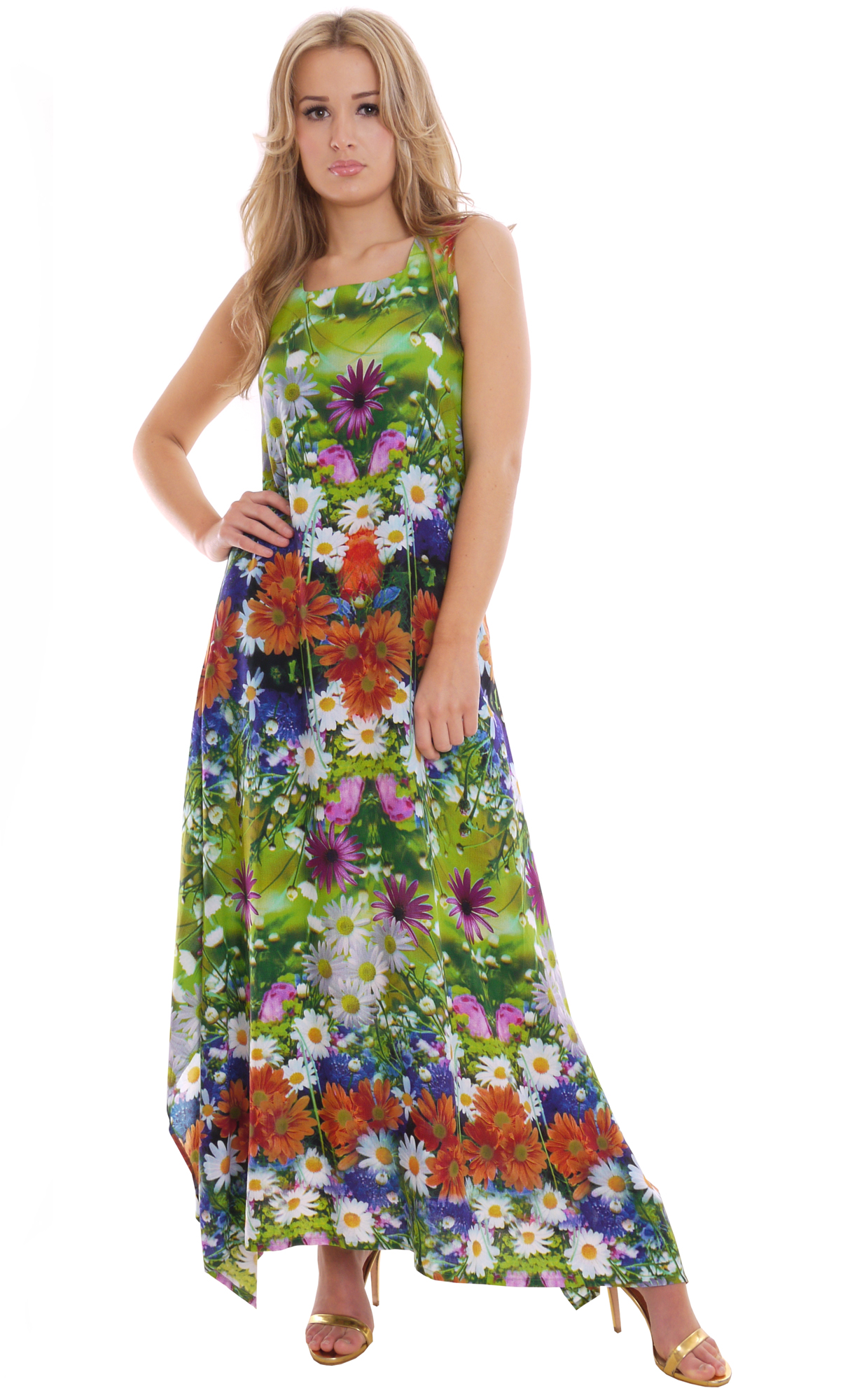 Image for Light Summer Maxi Dress Meadow