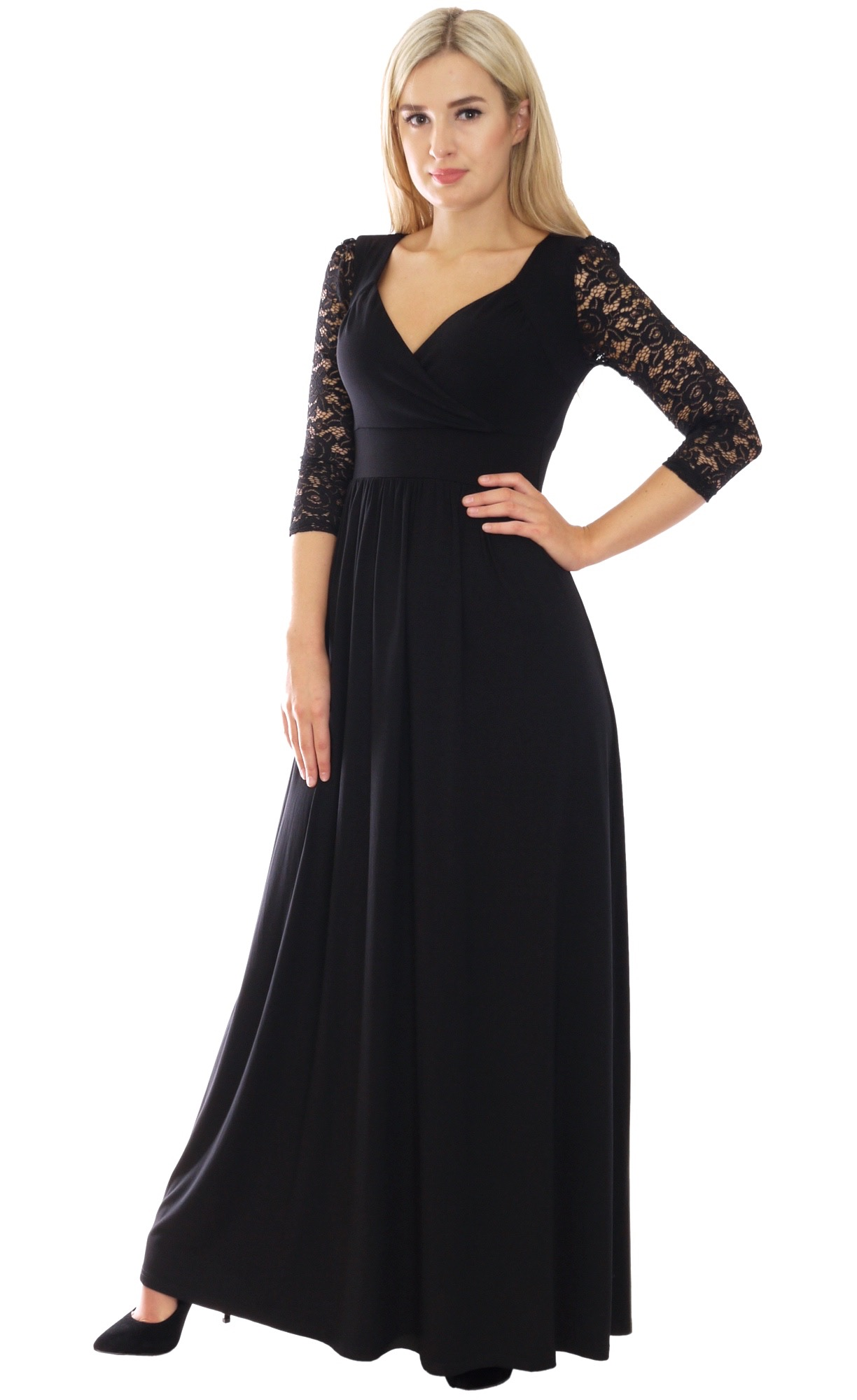 Image for Black Jersey Lace Sleeve