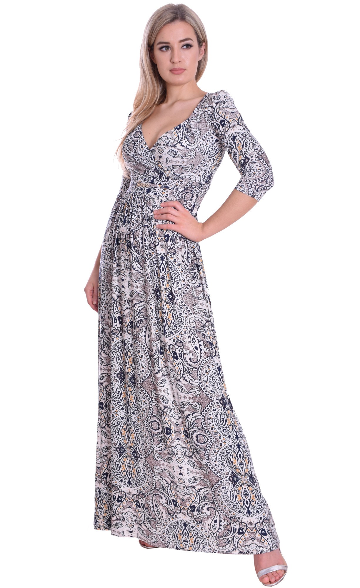 Image for Empire Style Maxi Dress Paisley