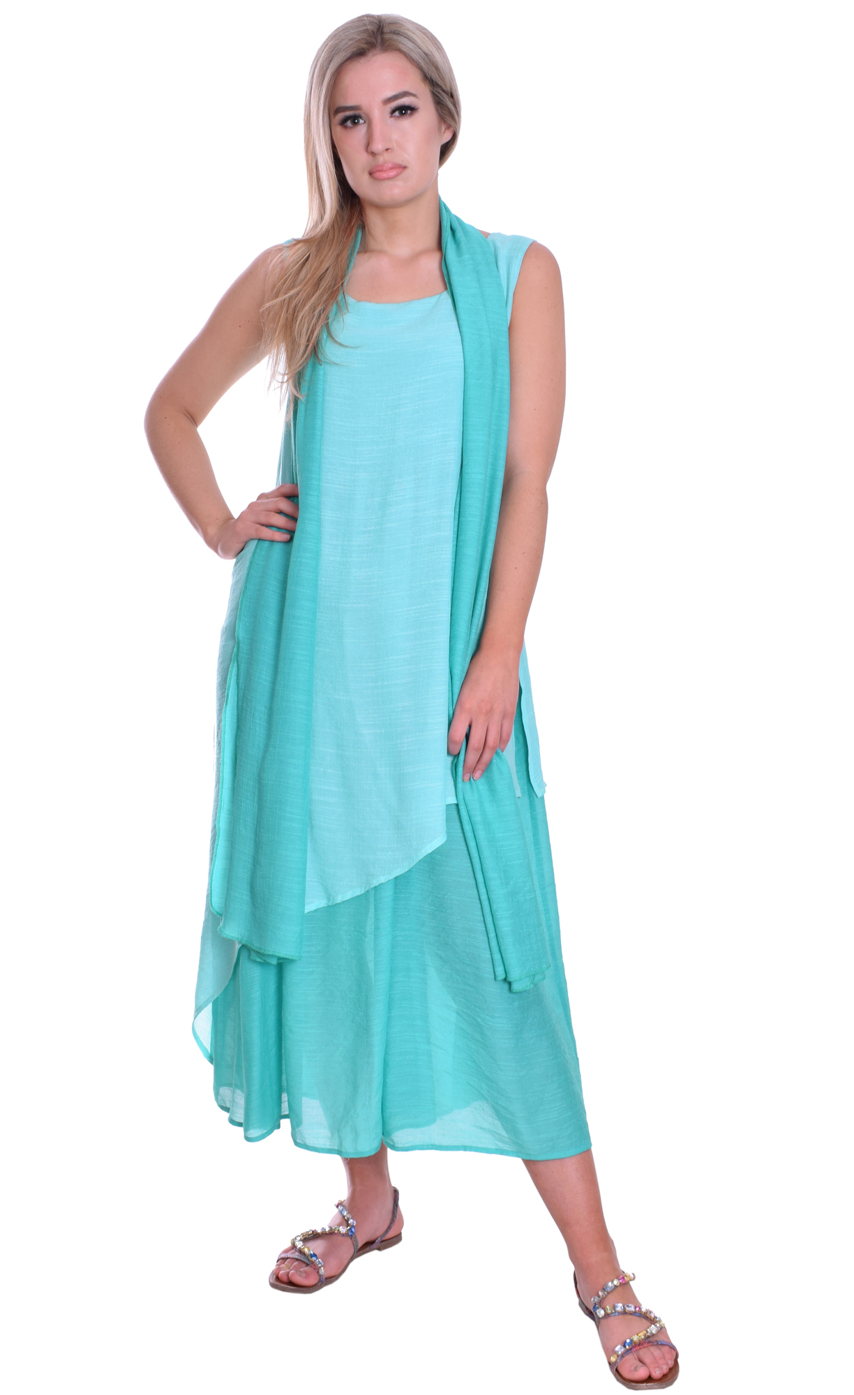 Image for Light Summer Maxi Dress Without Scarf
