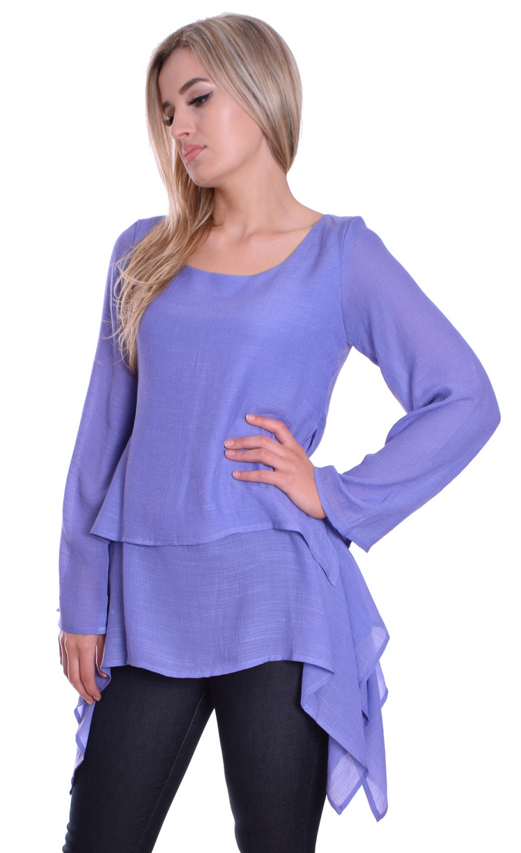 Image for Lagenlook Top Lavender