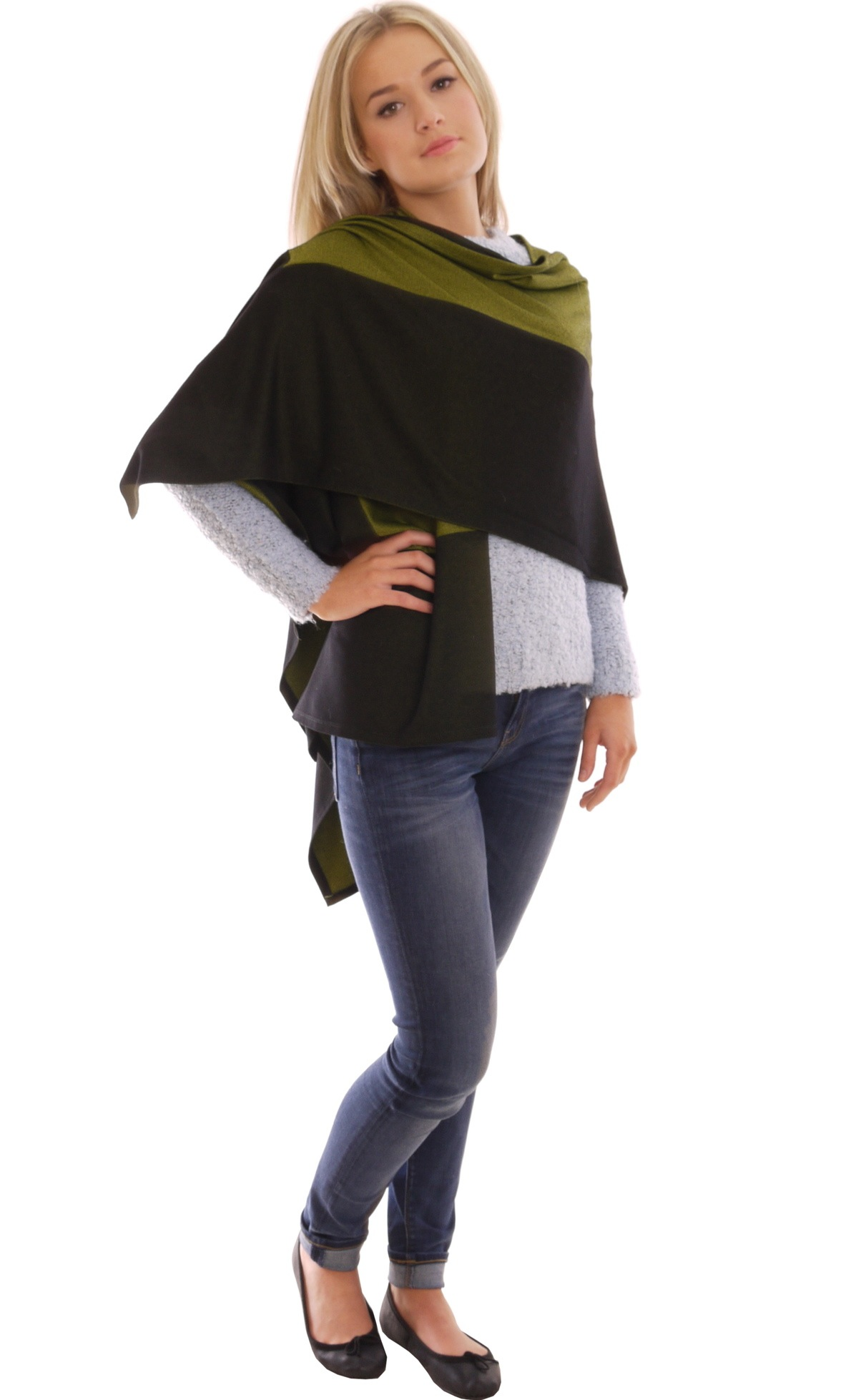 Image for Colourful Poncho Cape Shawl