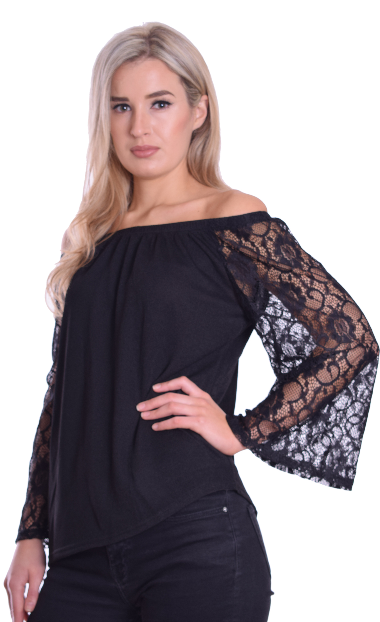 Image for Bardot Top Lace Black