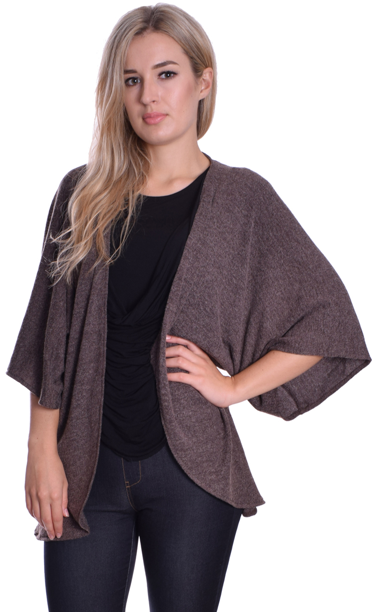 Image for Knitted Cape Cardigan