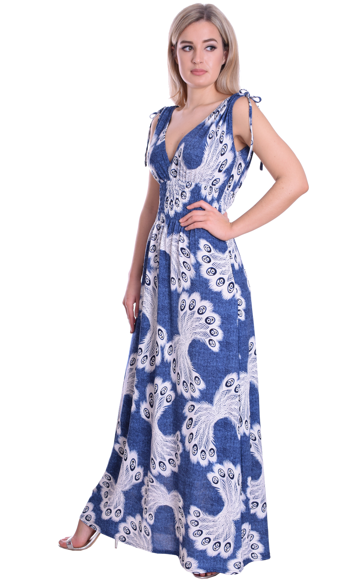Image for Summer Maxi Denim Blue White