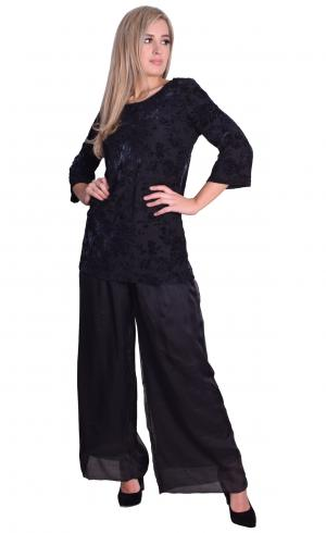 Image for Black Chiffon Trousers